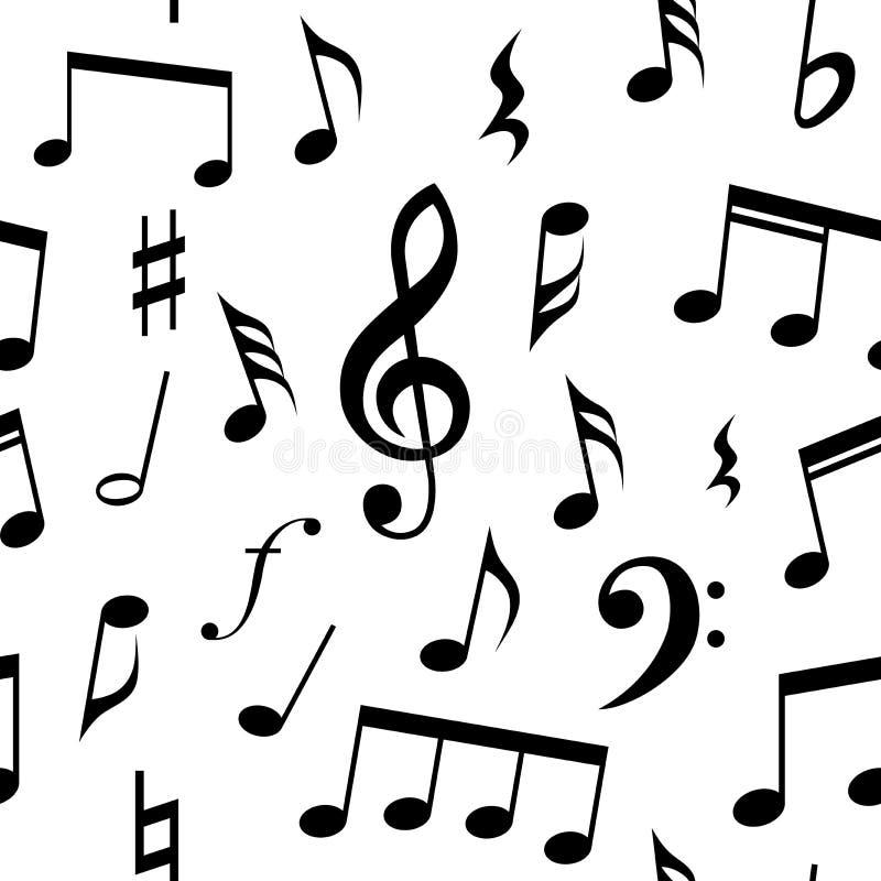 Примечания музыки и дизайн картины символов безшовный Польностью editable цвет заполнения и предпосылки иллюстрация штока