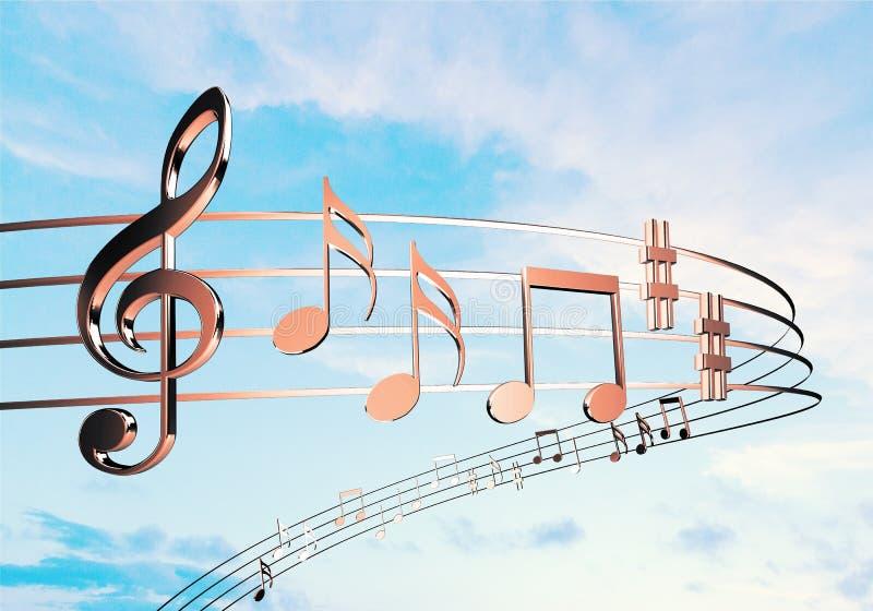 Примечания музыки на предпосылке стоковое изображение rf