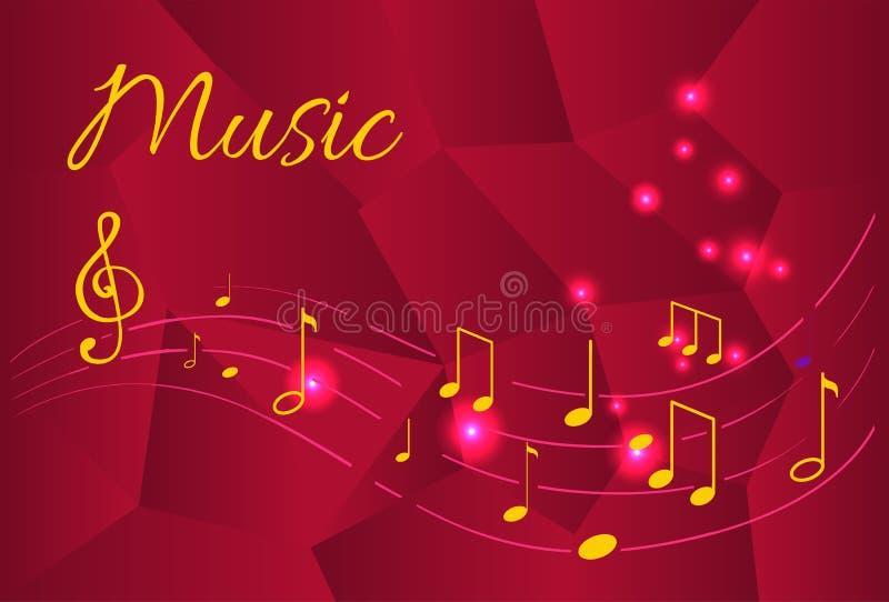 Примечания музыки, организовали звуки настроек Tablature иллюстрация штока
