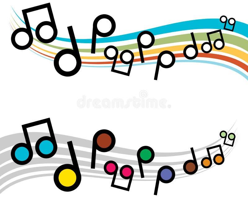 Примечания музыки иллюстрация вектора