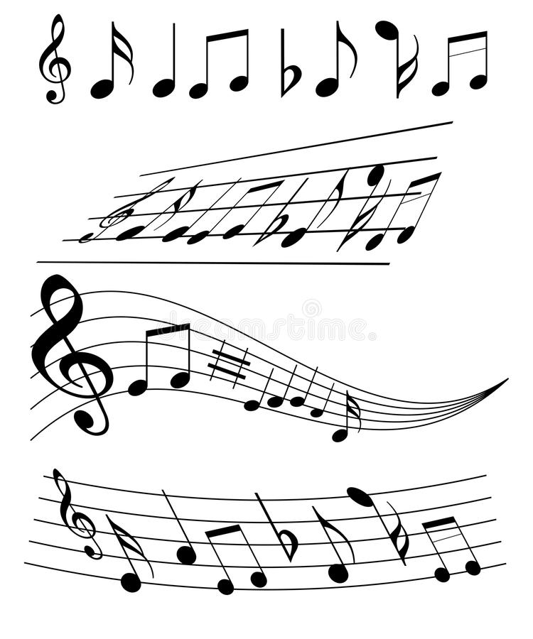 примечания нот иллюстрация вектора