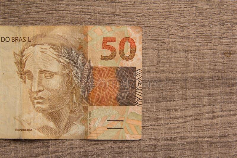 Примечания реальной, бразильской валюты деньги Бразилии Как раз один b стоковые изображения