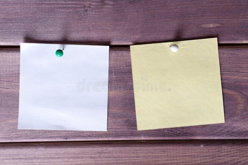 Примечания, стикеры стоковое фото rf