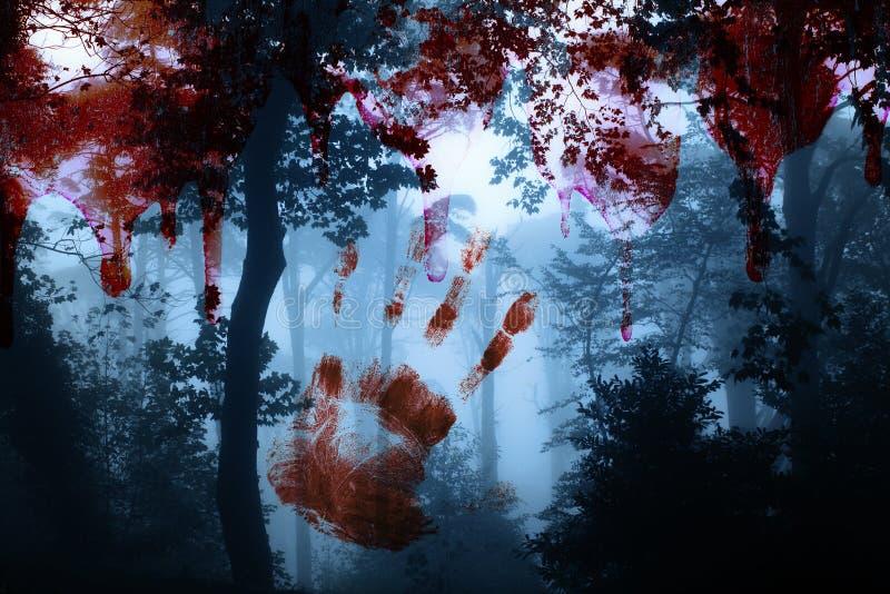 примечания лунного света halloween летучей мыши предпосылки стоковые изображения