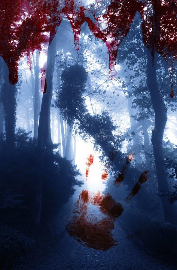 примечания лунного света halloween летучей мыши предпосылки стоковая фотография