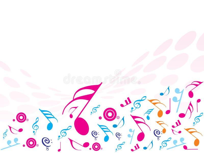 примечания ba идеально музыкальные иллюстрация вектора