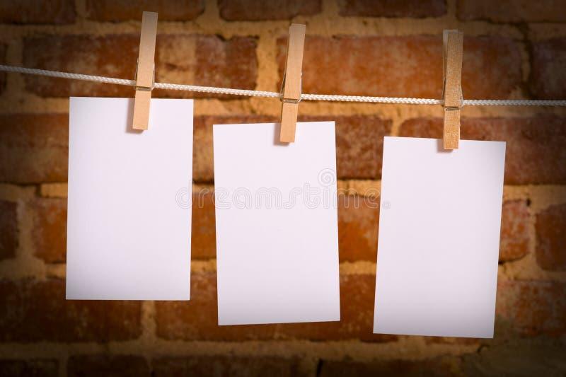 примечания clothesline стоковая фотография rf