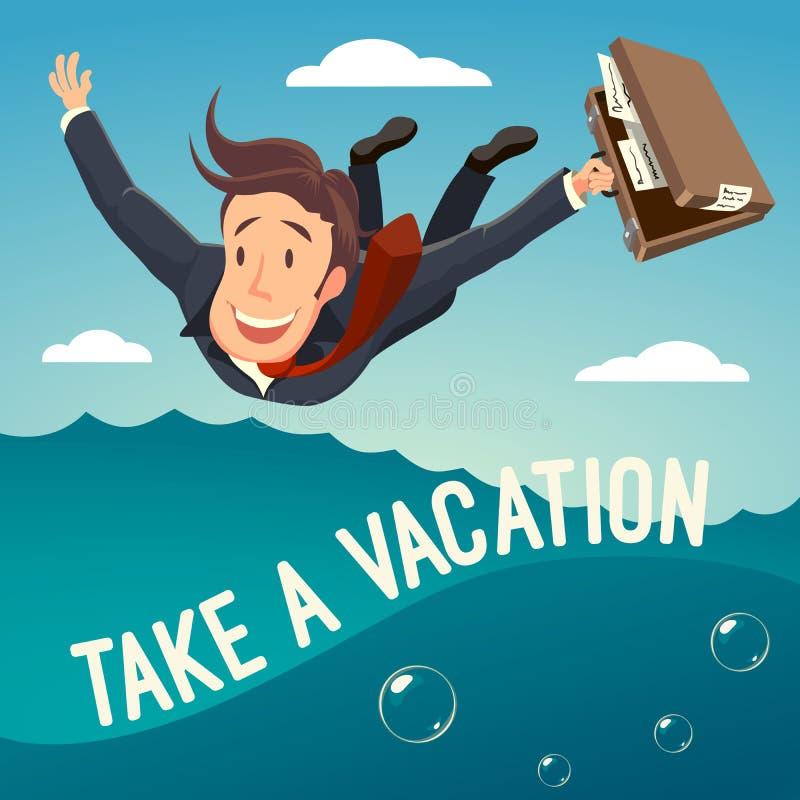 Примите каникулы! стоковая фотография
