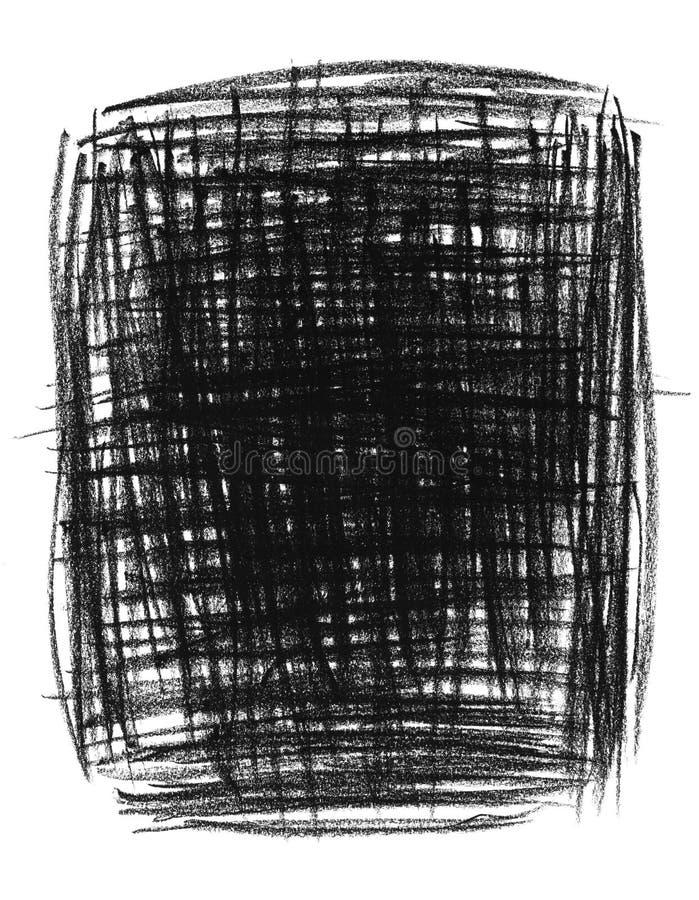 примитив руки предпосылки черный нарисованный иллюстрация вектора