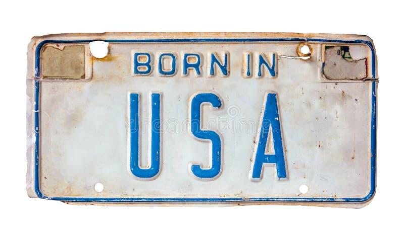 Принесенный в номерном знаке США стоковое изображение rf