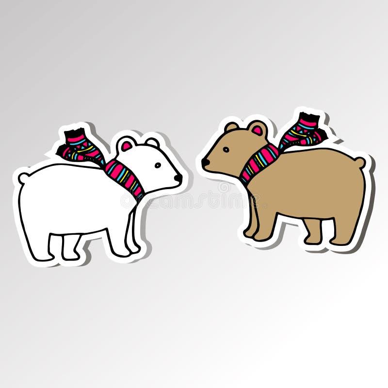 Принесите иллюстрацию животного шаржа вектора приполюсного млекопитающуюся ледовитую одичалую иллюстрация вектора