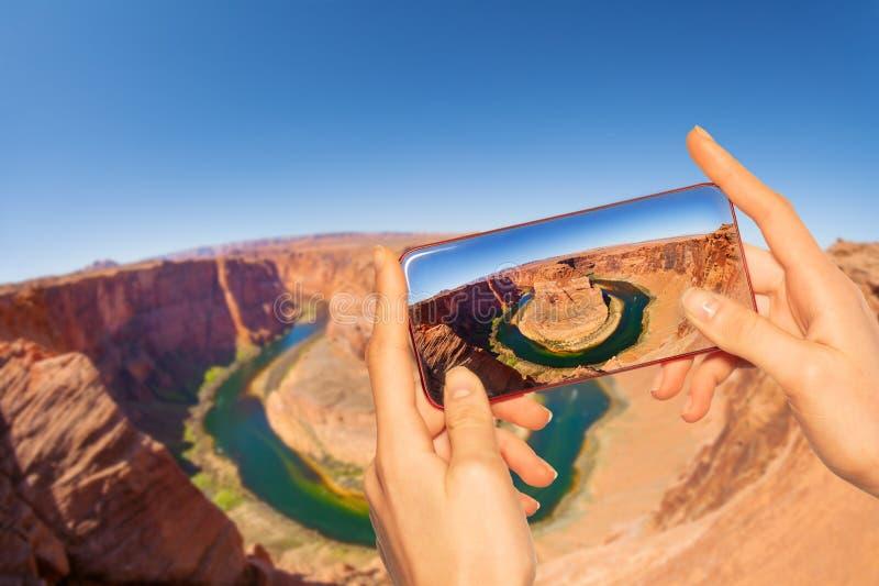 Принимать фото ботинка лошади каньона в США Юте стоковая фотография rf