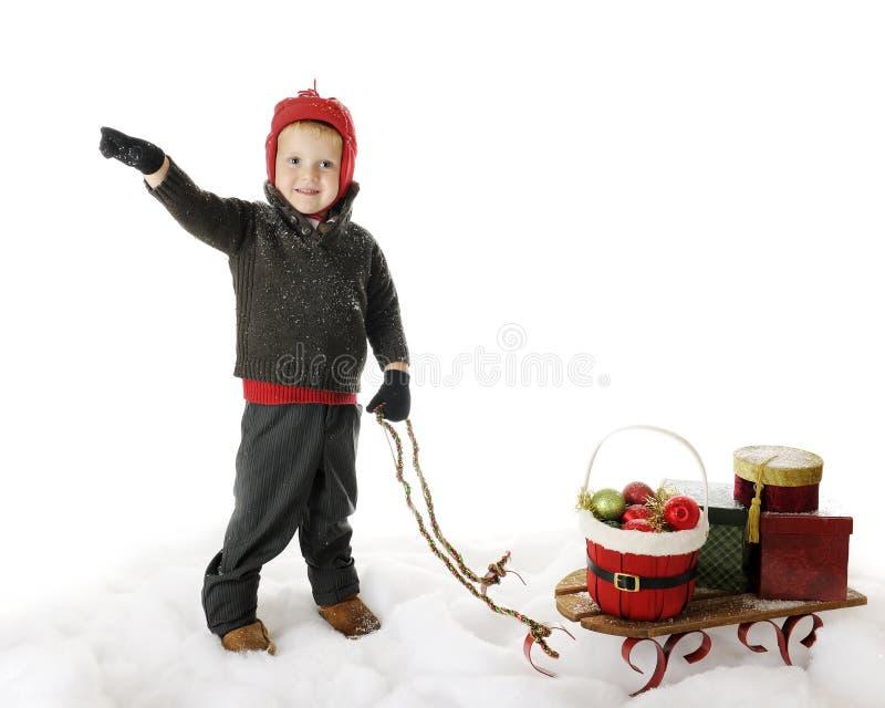 Принимающ рождество там стоковые фото