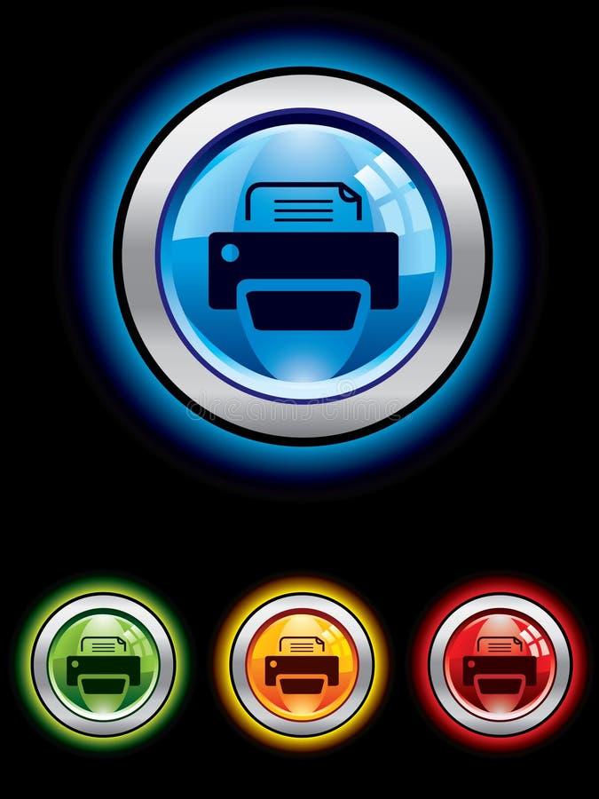 Download принтер кнопки лоснистый иллюстрация вектора. иллюстрации насчитывающей печать - 6864607