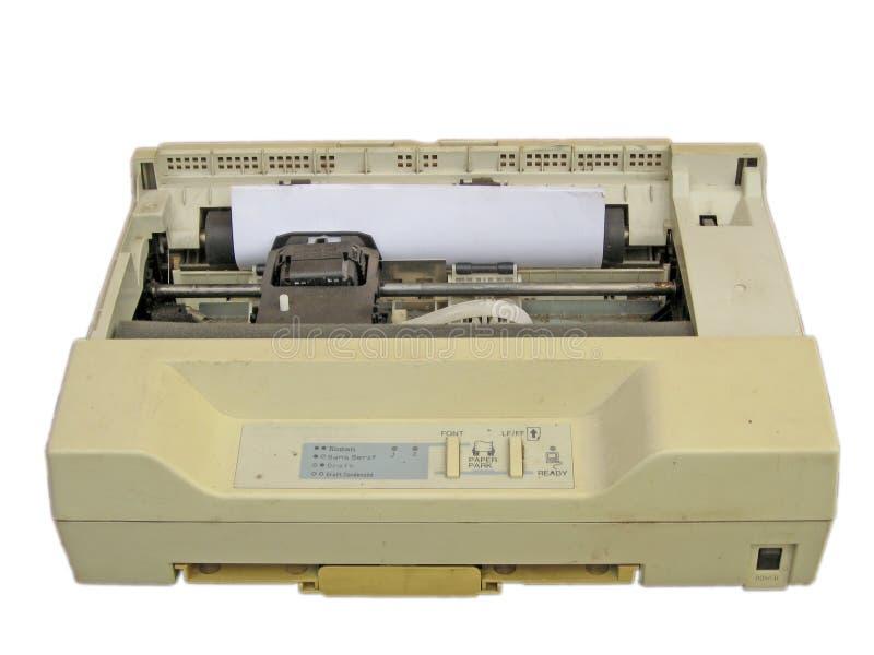 принтер матрицы многоточия стоковое фото