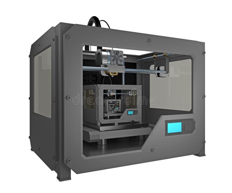 принтер 3d печати принтера 3d малый иллюстрация штока