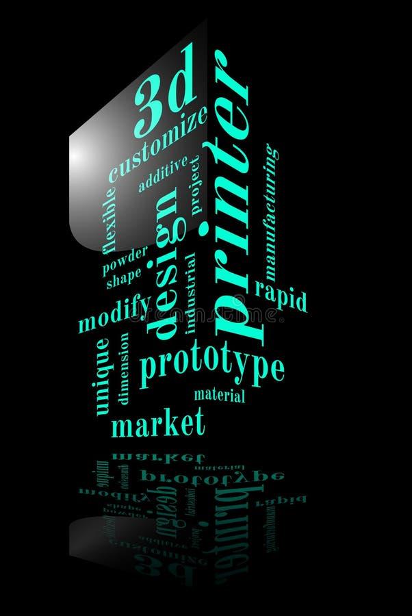 принтер 3D иллюстрация штока