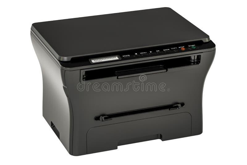Принтер MFP современного черного офиса многофункциональный, перевод 3D иллюстрация вектора