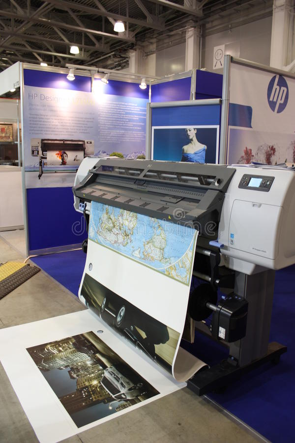 принтер packard цифрового hewlett формы большой стоковое фото rf