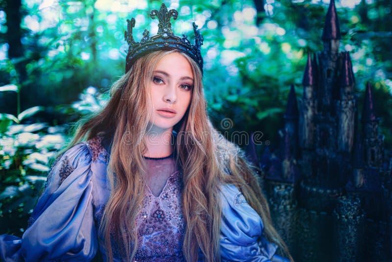 Принцесса в волшебном лесе стоковая фотография rf