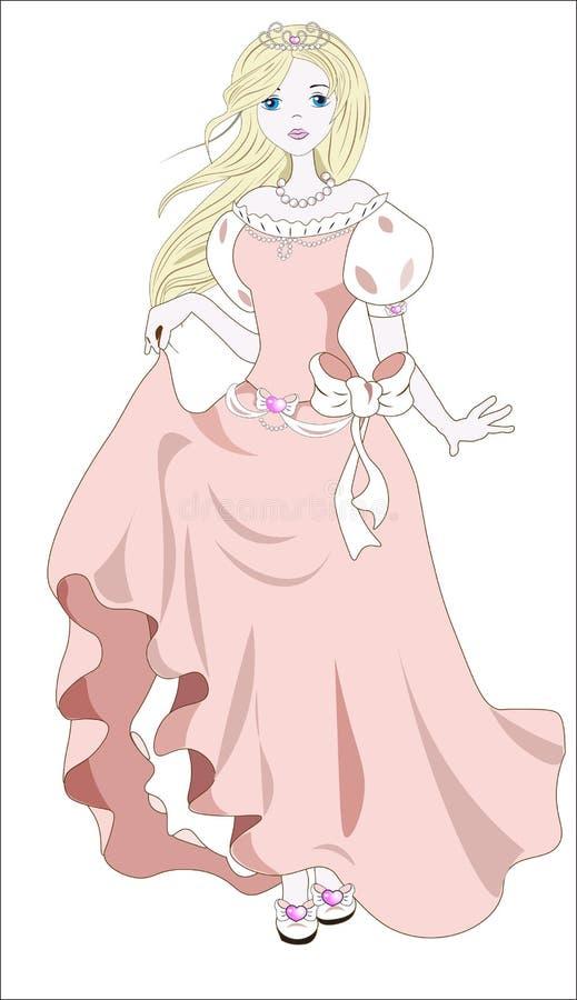 Принцесса и ветер иллюстрация штока