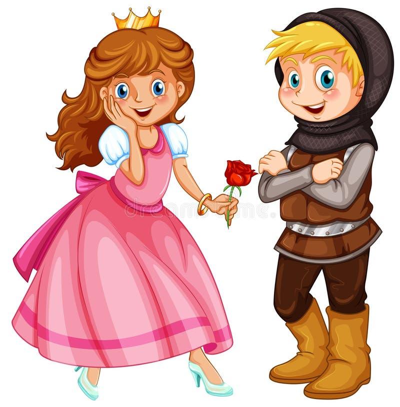 Картинка рыцаря и принцессы для детей