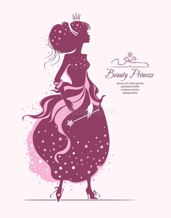 Принцесса красоты иллюстрация штока