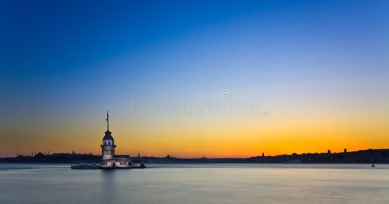 Принцесса Остров в Стамбуле, на заходе солнца, панорама стоковые изображения