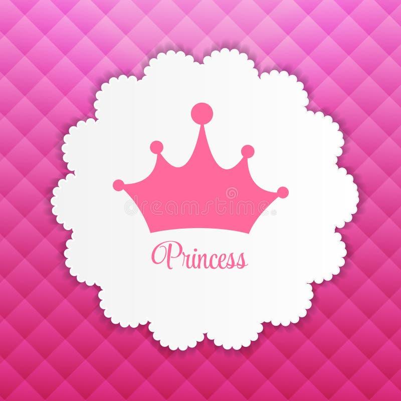 Принцесса Предпосылка с вектором кроны бесплатная иллюстрация