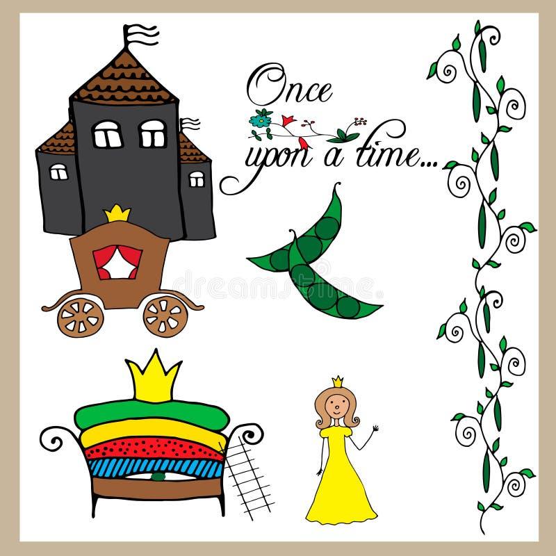 Принцесса сказки и горох бесплатная иллюстрация