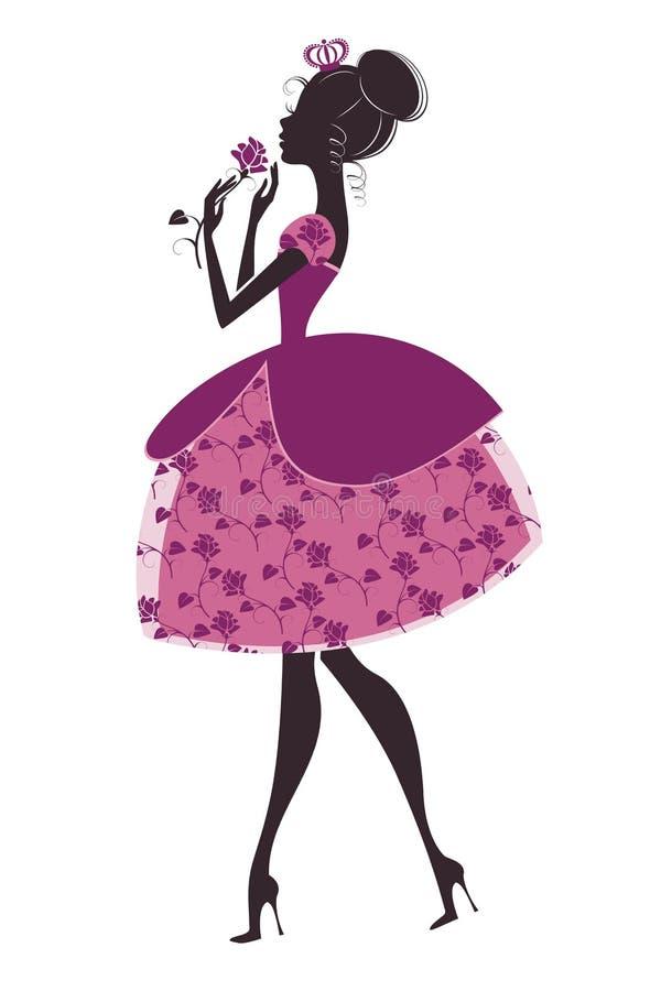 Download Принцесса с подняла иллюстрация вектора. иллюстрации насчитывающей одежда - 33728966