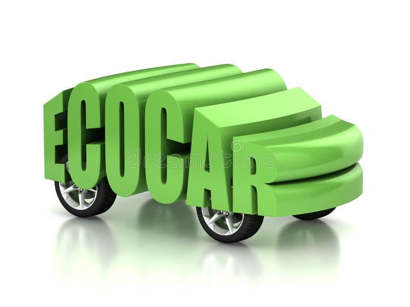 Принципиальная схема автомобиля 3d Eco иллюстрация вектора