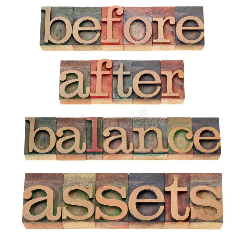 принципиальная схема баланса имуществ стоковые изображения