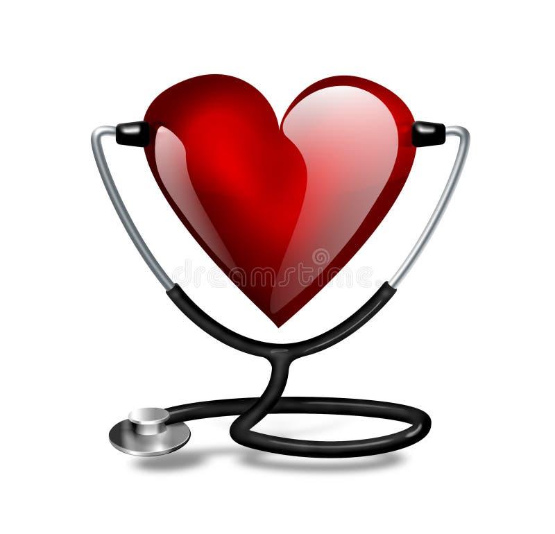Принципиальная схема биения сердца иллюстрация вектора
