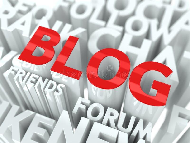 Принципиальная схема блога. иллюстрация штока