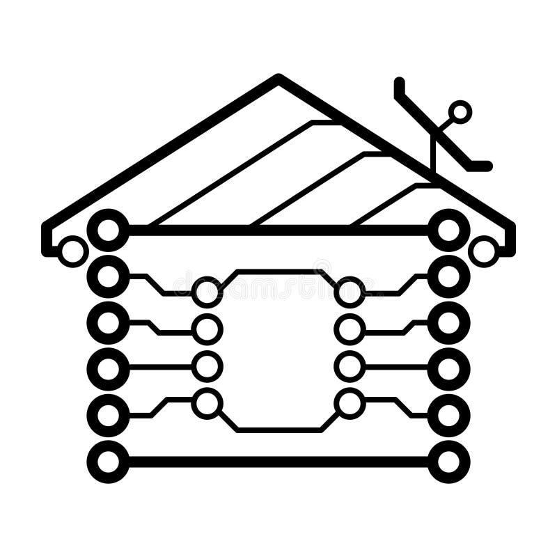 Принципиальная схема вектора автоматизации дома бесплатная иллюстрация