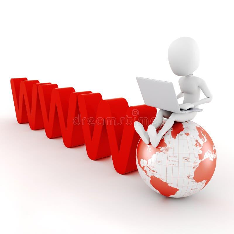 принципиальная схема глобального дела человека 3d бесплатная иллюстрация