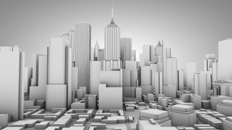 принципиальная схема города иллюстрация штока