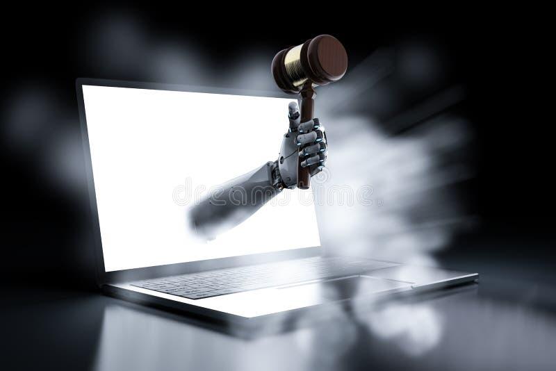 Принципиальная схема закона кибер иллюстрация вектора