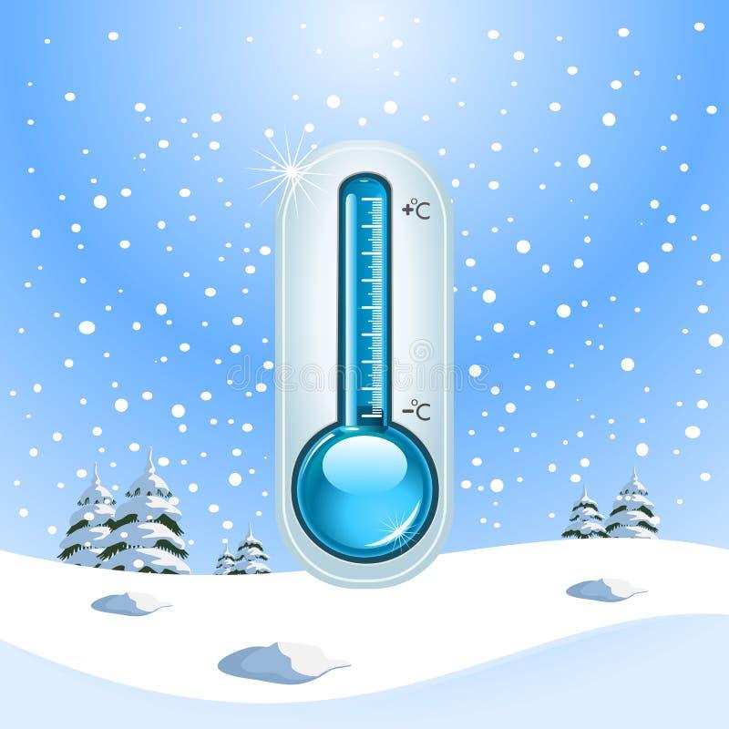 Принципиальная схема замораживания зимы иллюстрация вектора