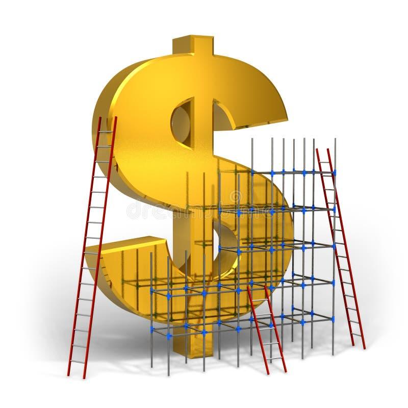 принципиальная схема зарабатывая деньги иллюстрация вектора