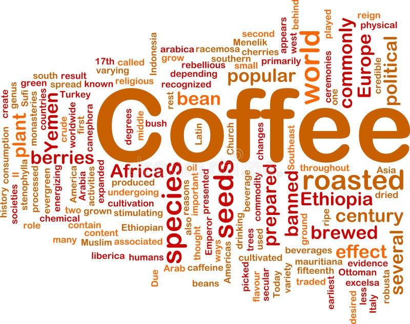 принципиальная схема кофе напитка предпосылки иллюстрация вектора