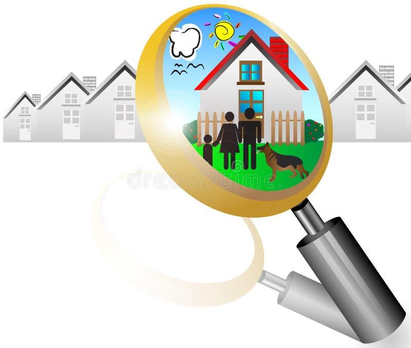 Принципиальная схема недвижимости   иллюстрация штока