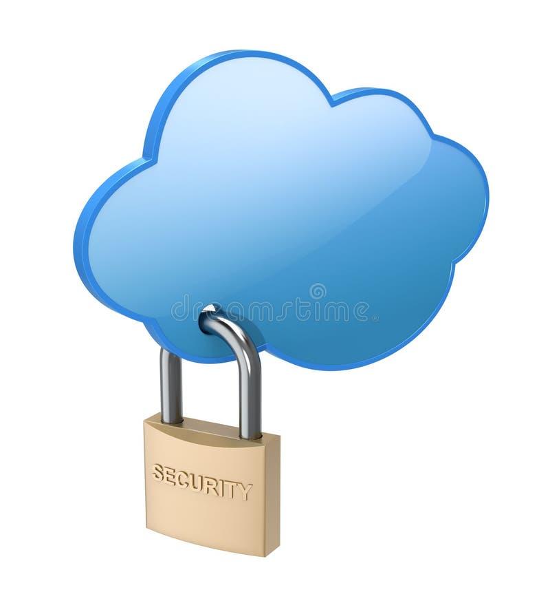принципиальная схема облака вычисляя иллюстрация вектора