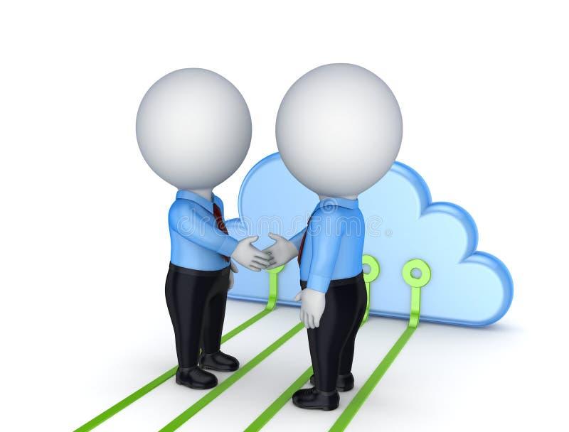 Принципиальная схема облака вычисляя. иллюстрация штока
