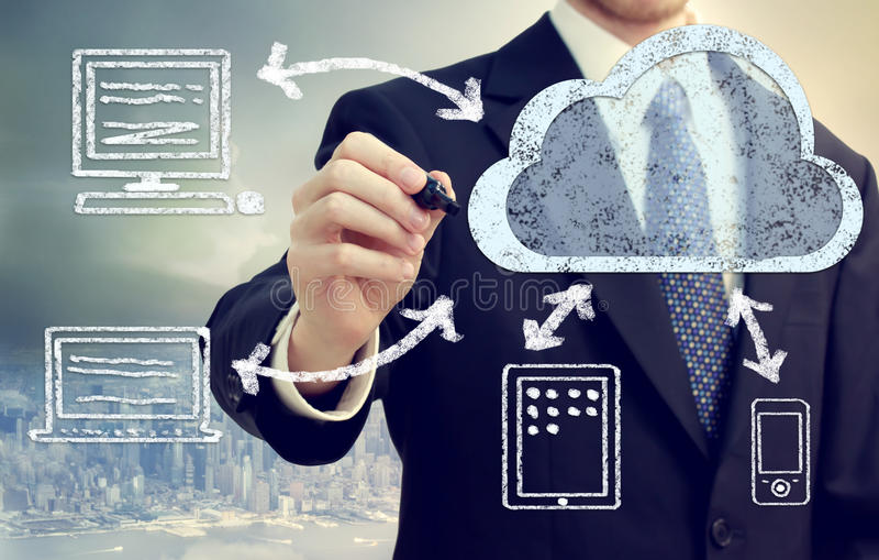 Принципиальная схема облака вычисляя стоковые изображения rf