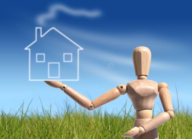 Принципиальная схема предпринимателя нового дома Стоковые Изображения