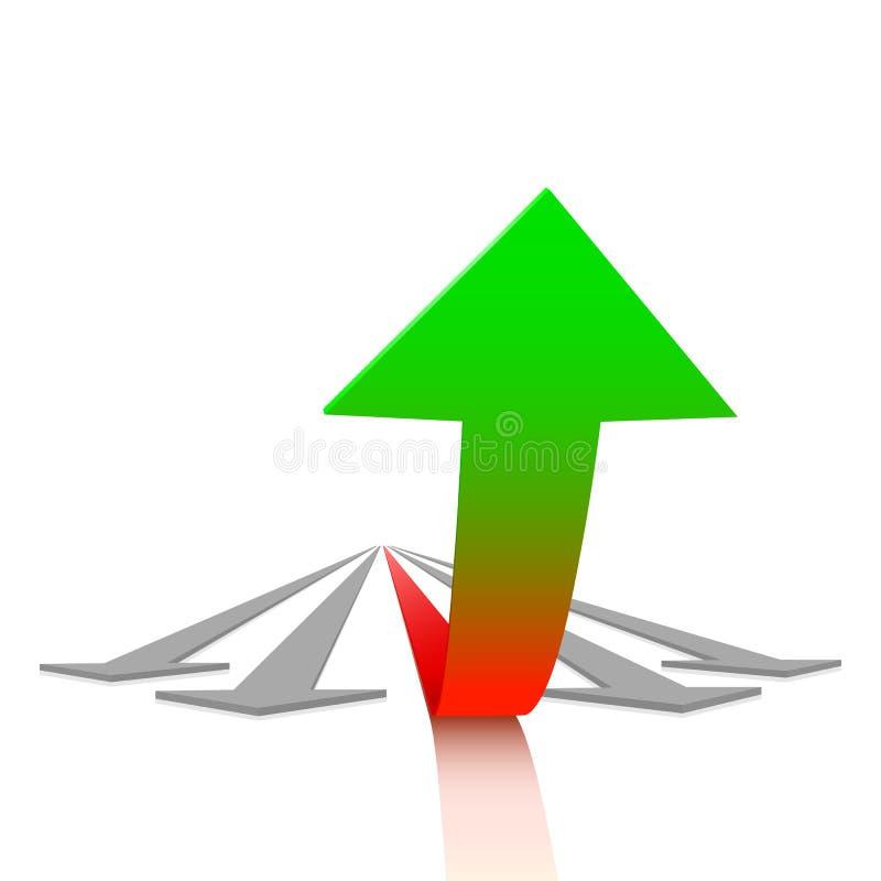 Принципиальная схема роста иллюстрация штока