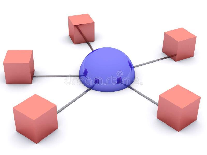 Принципиальная схема сети Стоковое Фото