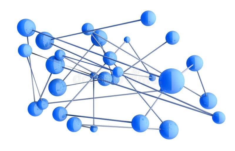 Принципиальная схема сети иллюстрация вектора